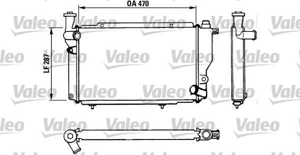 Radiateur, refroidissement du moteur - VALEO - 730534