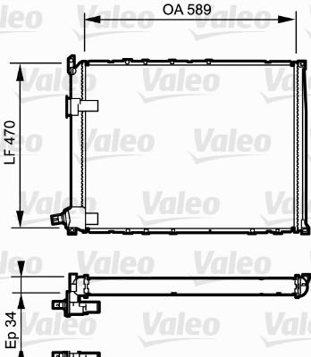 Radiateur, refroidissement du moteur - VALEO - 730548