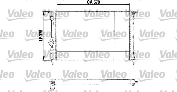 Radiateur, refroidissement du moteur - VALEO - 730551