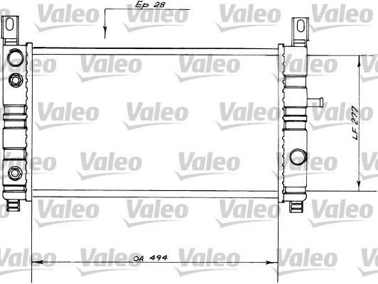 Radiateur, refroidissement du moteur - VALEO - 730559