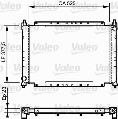 Radiateur, refroidissement du moteur - VALEO - 730565