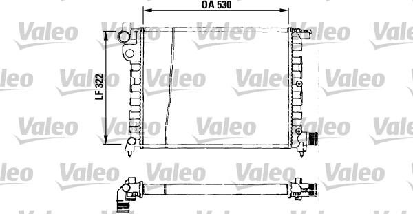 Radiateur, refroidissement du moteur - VALEO - 730569