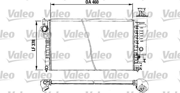 Radiateur, refroidissement du moteur - VALEO - 730572