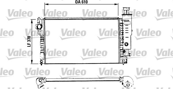 Radiateur, refroidissement du moteur - VALEO - 730575