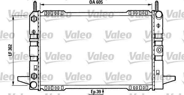 Radiateur, refroidissement du moteur - VALEO - 730586