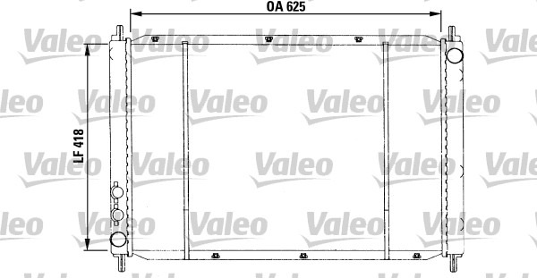 Radiateur, refroidissement du moteur - VALEO - 730591