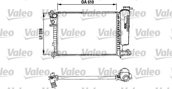 Radiateur, refroidissement du moteur - VALEO - 730630