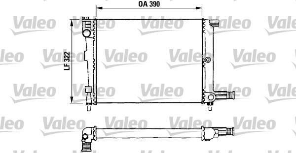 Radiateur, refroidissement du moteur - VALEO - 730632
