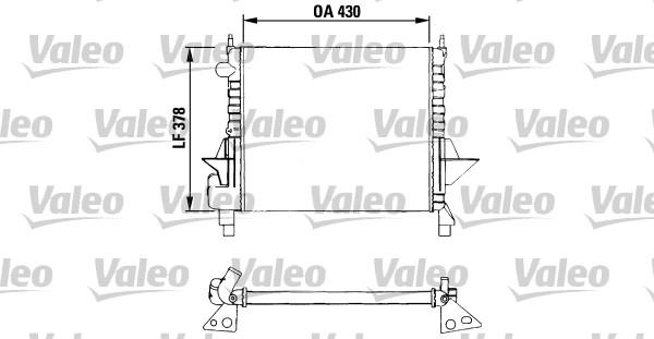 Radiateur, refroidissement du moteur - VALEO - 730633