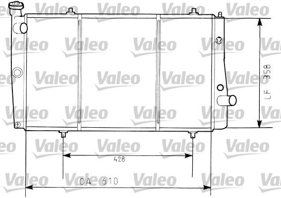 Radiateur, refroidissement du moteur - VALEO - 730634