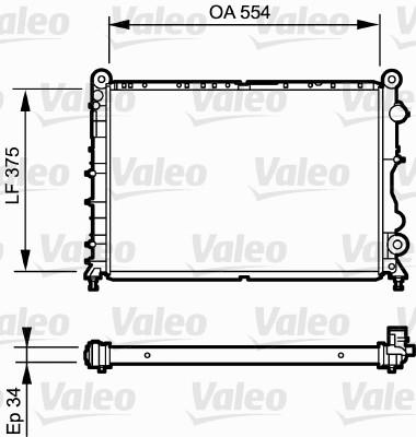 Radiateur, refroidissement du moteur - VALEO - 730838