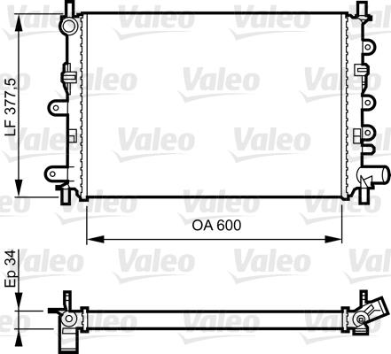 Radiateur, refroidissement du moteur - VALEO - 730856