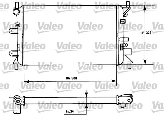 Radiateur, refroidissement du moteur - VALEO - 730857