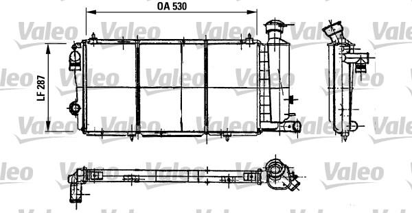 Radiateur, refroidissement du moteur - VALEO - 730897
