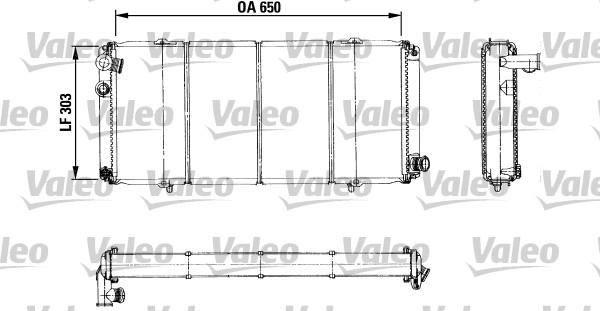Radiateur, refroidissement du moteur - VALEO - 730898