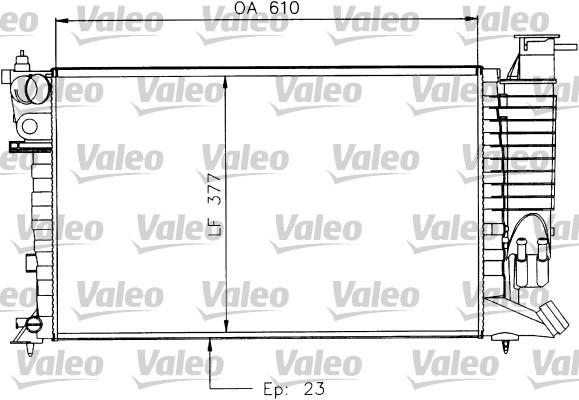 Radiateur, refroidissement du moteur - VALEO - 730927
