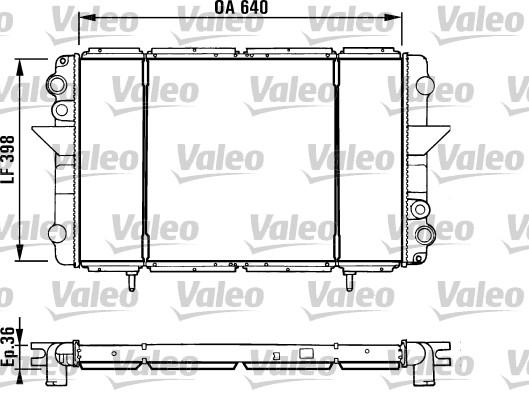 Radiateur, refroidissement du moteur - VALEO - 730940