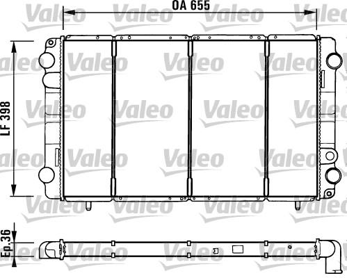 Radiateur, refroidissement du moteur - VALEO - 730944