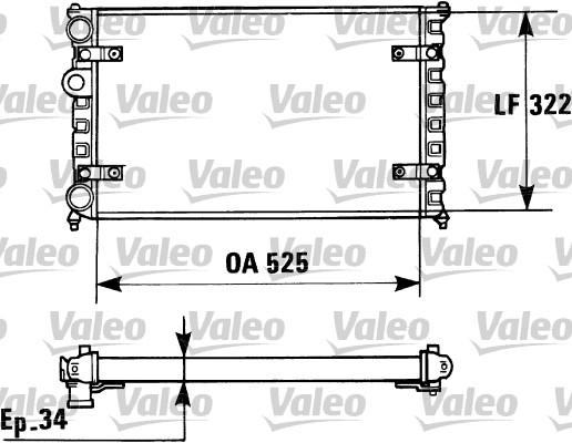 Radiateur, refroidissement du moteur - VALEO - 730947