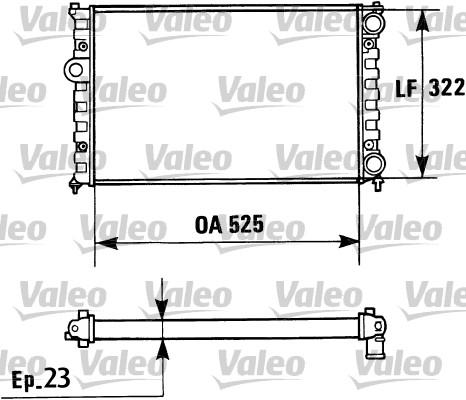 Radiateur, refroidissement du moteur - VALEO - 730948