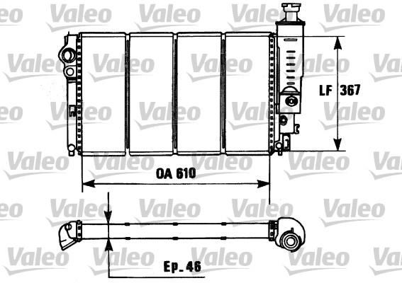 Radiateur, refroidissement du moteur - VALEO - 730953