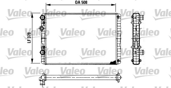 Radiateur, refroidissement du moteur - VALEO - 730954