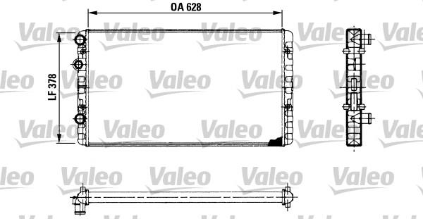 Radiateur, refroidissement du moteur - VALEO - 730955