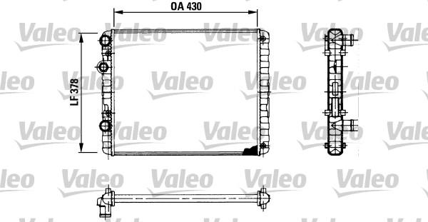 Radiateur, refroidissement du moteur - VALEO - 730956