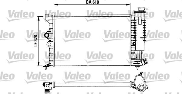 Radiateur, refroidissement du moteur - VALEO - 730957