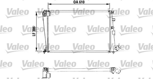 Radiateur, refroidissement du moteur - VALEO - 730958