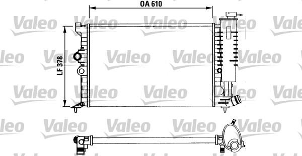 Radiateur, refroidissement du moteur - VALEO - 730960