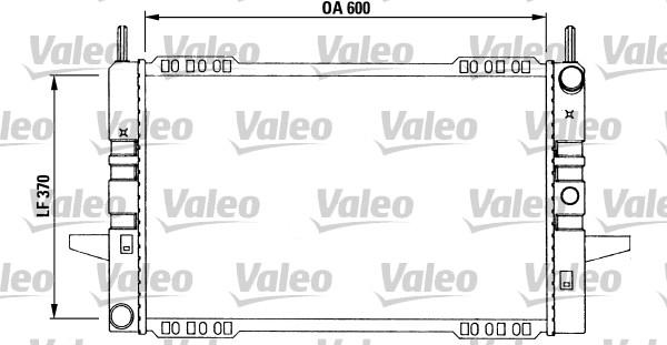 Radiateur, refroidissement du moteur - VALEO - 730968