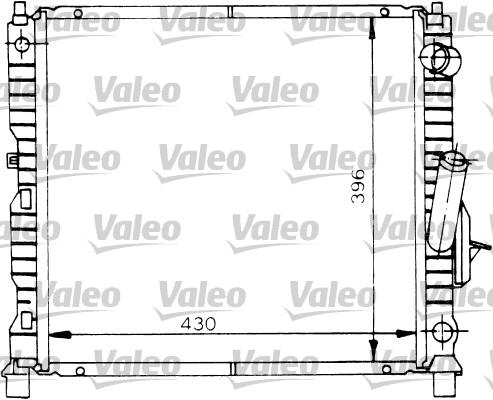 Radiateur, refroidissement du moteur - VALEO - 730969