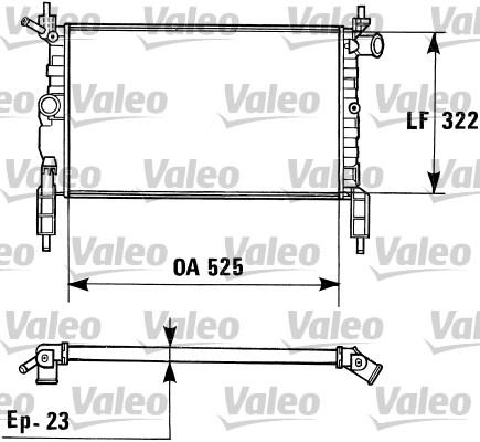 Radiateur, refroidissement du moteur - VALEO - 730975