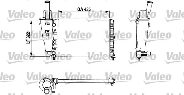 Radiateur, refroidissement du moteur - VALEO - 730976