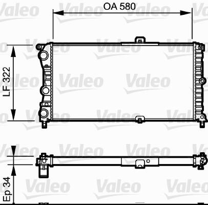 Radiateur, refroidissement du moteur - VALEO - 730980