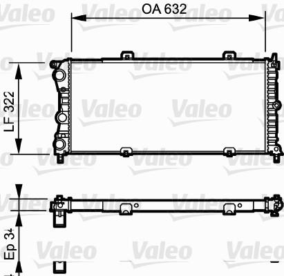 Radiateur, refroidissement du moteur - VALEO - 730981