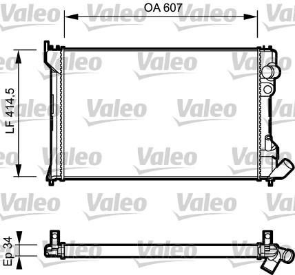 Radiateur, refroidissement du moteur - VALEO - 730982