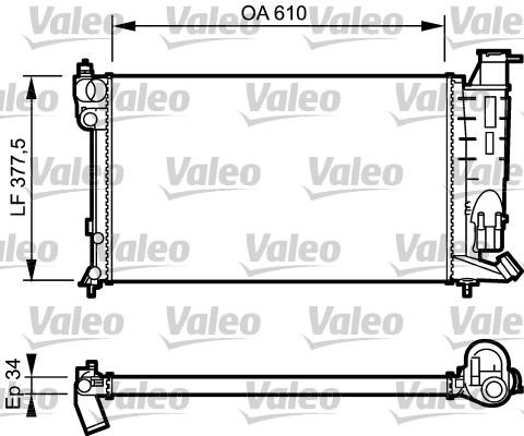 Radiateur, refroidissement du moteur - VALEO - 730983