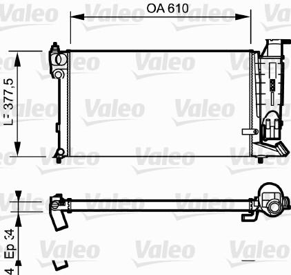 Radiateur, refroidissement du moteur - VALEO - 730984