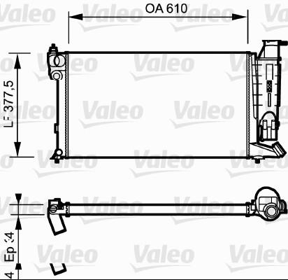 Radiateur, refroidissement du moteur - VALEO - 730985