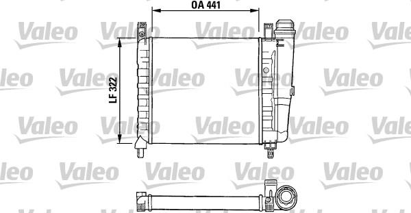 Radiateur, refroidissement du moteur - VALEO - 730990