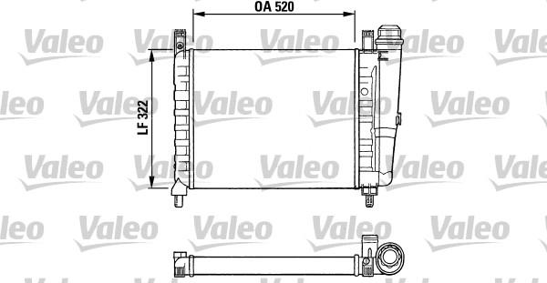 Radiateur, refroidissement du moteur - VALEO - 730991