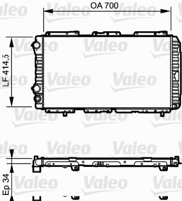 Radiateur, refroidissement du moteur - VALEO - 730995