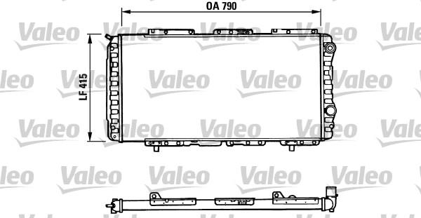 Radiateur, refroidissement du moteur - VALEO - 730997