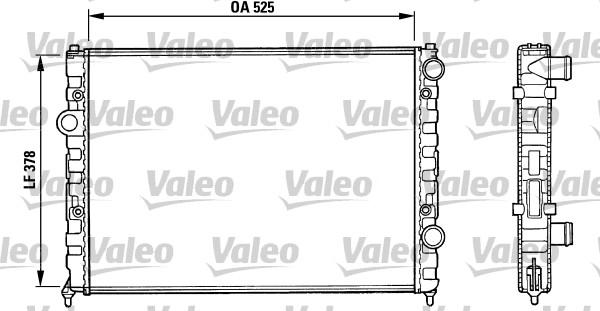Radiateur, refroidissement du moteur - VALEO - 731005