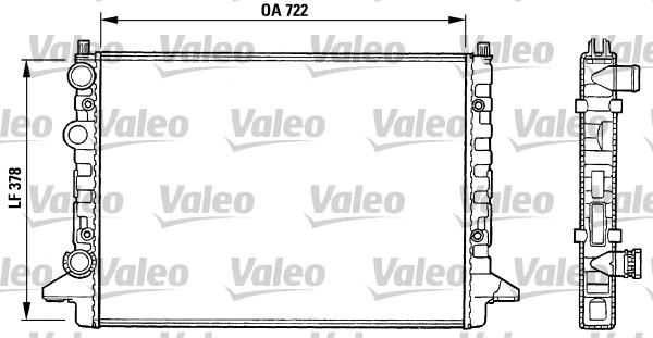 Radiateur, refroidissement du moteur - VALEO - 731008