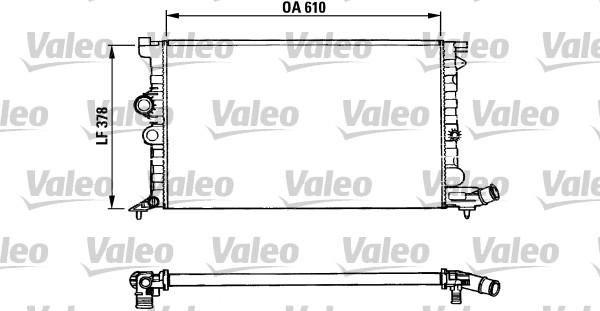 Radiateur, refroidissement du moteur - VALEO - 731009