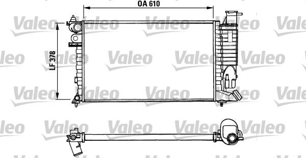 Radiateur, refroidissement du moteur - VALEO - 731010