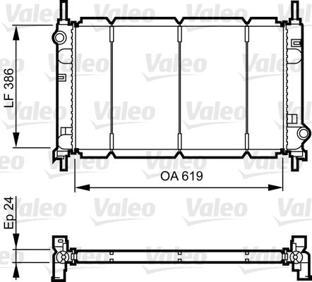 Radiateur, refroidissement du moteur - VALEO - 731011